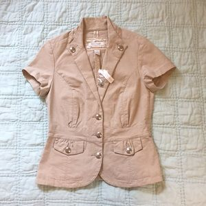NWT White House Black Market tan jacket